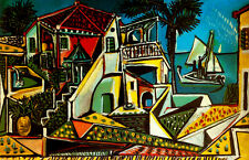Pablo Picasso Paysage mediterranee canvas print giclee 8X12 &12X17 reproduction