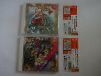 """Sega Dreamcast """"POWER STONE"""" & """"POWER STONE 2"""" Set DC w/Obi NTSC-J From Japan"""