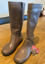 Brand New Brown Leather Boots - child's sizes 10, 10.5 & 11 Aust Sizes