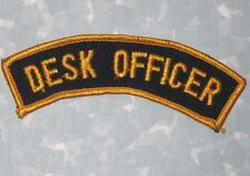 "Desk Officer Police Patch - Vintage (cheesecloth back) - 4 3/8"" x 1 1/2"""