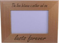 The Love Between A Mother And Son Lasts Forever 4x6 Inch Wood Picture Frame -...