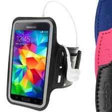 Nero Antiscivolo Braccio Armband Neoprene Sport per Samsung Galaxy S5 SV SM-G900