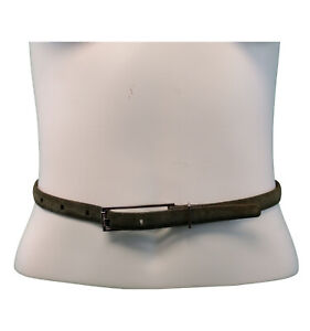 """Isaac Mizrahi Green Genuine Leather Suede  Belt  Small  Fits Fits 26"""" to 30"""""""