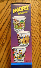 Disney 100 Dixie Cup Refills Fun & Games Mickey Mouse Minnie Goofy NOS 1991 Box