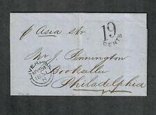 "Transatlantic Ship Cover Liverpool To Philadelphia 1851 ""Asia"""