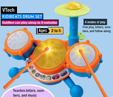 New VTech KidiBeats Drum Set w/ Lights Sounds & Music Kids Fun Educational Toy