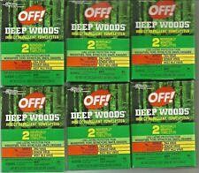 OFF DEEP WOODS MOSQUITO,INSECT REPELLANT TOWELETTES. TRAVEL PACKS. (6) 2 PACKS.