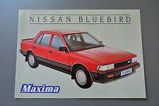 Sales Brochure Nissan Bluebird Maxima 1985