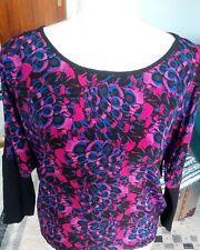 Dunnes top size 8 black,pink,blue