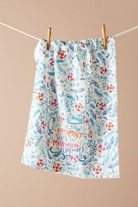 NWT Anthropologie Peppermint Wishes Kitchen Towel