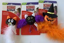 New listing Kong Active Catnip Cat Toys Crinkle Sound Lot of 3 Cat Bat Jack-O-Lantern