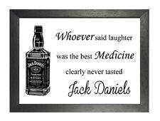 Drôle Whiskey Citation Pub Happy Image Jack Daniels Laughter Médicament Affiche