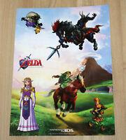 2011 Nintendo 3DS The Legend of Zelda Ocarina of Time 3D Sticker Afkleber Set