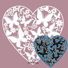 Heart butterfly Metal Cutting Dies Scrapbooking Album Craft Embossing stencil