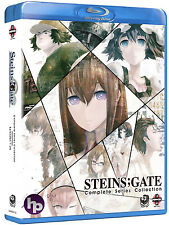 Steins;Gate . The Complete Series . 01-25 . Part 1 & 2 . Anime . 4 Blu-ray . NEU