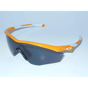 New Oakley M2 Frame XL Sunglasses Atomic Orange/Grey Cycling White Large USA M