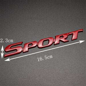Sport Racing Logo Car Trunk Tailgate Emblem Badge Decal Sticker Red Universal