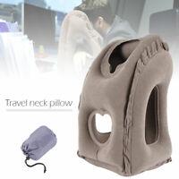 Tête cou bureau coussin avion voyage gonflable portatif luxe oreiller de cou
