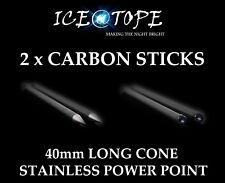 ICEATOPE 2 x CARBON BANKSTICKS Bankstick Wrap Distance Sticks Bankstick Marker