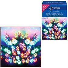 Premier 380 Supabrights LED Christmas Multi-action Lights - Multi-Colour