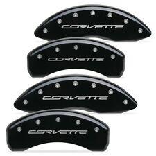 "C7 Corvette Stingray Brake Caliper Covers with ""CORVETTE"" Script : Gloss Black"