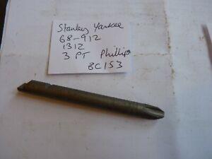 STANLEY YANKEE  1312 - 3 PT PHILLIPS SCREW DRIVER BIT