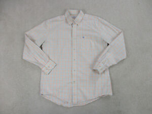 Southern Tide Shirt Adult Large Yellow Pink Skip Jack Button Up Casual Mens *
