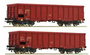 Neu - 2 x Offener Güterwagen aus Roco 51332, verschiedene Betriebsnummern