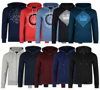 Smith & Jones Men's New Overhead & Zip Up Hooded Tops Sweatshirt Fleece Hoodies