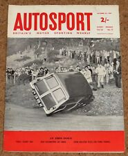 Autosport 27/10/61* EARLS COURT MOTOR SHOW - 1000KMS of PARIS -FORD TAUNUS TEST