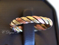 Hand Crafted Copper 3 Colors Twisted Open Ring All Sizes Arthritis Toe Thumb