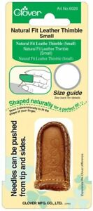 Clover Natural Fit Leather Thimble: Small, 1