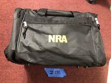 NRA National Riffle Association Duffel Bag Gun Travel Tool Black Logo Enbroidery