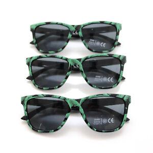 BACARDI Sonnenbrille 3er Pack Palmendesign schwarz grün UV400 Rum Sonne Party
