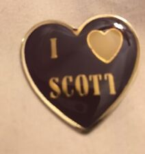 """I love Scott� pin- Vintage purple in color"