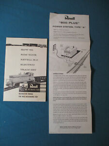 1956 REVELL H-O Electric Trains INSTRUCTION MANUAL & POWER STATION A Directions