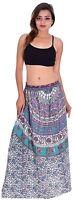 Indian 100% cotton Long Skirt Hippie Women Plus size Floral Print Multi Color