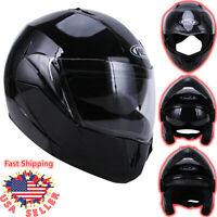 DOT Flip up Modular Full Face Motorcycle Helmet Dual Visor Race Sport Motocross