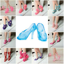 40Pairs Different High Heel Shoes Boots For Doll Dresses Clothes Random