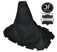 Red stitch pour ford mustang 2005-2010 manuel cuir shift boot gear gaiter