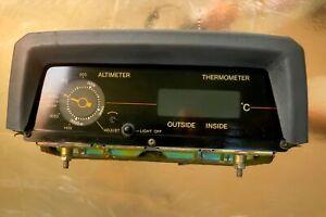 Toyota Land Cruiser 70 series OEM Altimeter + cover FJ70 J73 Digital Thermometer