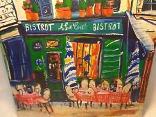 JENNY MUNCASTER BISTROT BISTRO WALL HANGING DECOR Painting Print Canvas Art