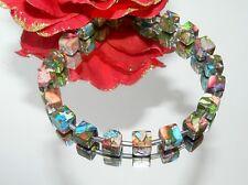 Traum Armband Schmuck,- Edelstein Picaso Jaspis multicolor Hämatit silber 214v