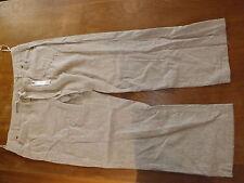 Ladies BHS Stone Stripe Linen/Cotton Mix Trouser Sz 18 Regular (£22)