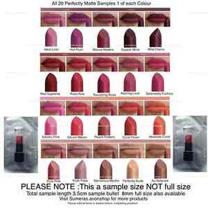 Avon Perfectly Matte Lipstick Samples Pick From 20 Gorgeous Shades ~ Free P&P
