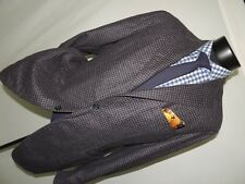 CANALI Kei Collection men's recent Gray check sports jacket coat 44 R