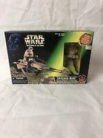 Star Wars The Power Of The Force SPEEDER BIKE with LUKE SKYWALKER In Endor Gear