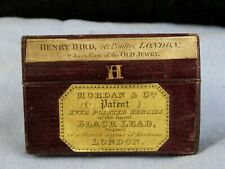 ANTIQUE EARLY MORDAN EVER POINTED PENCIL LEAD REFILLS H LEATHER CASE BOX H BIRD