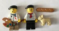 Lego 71018 series 17 4 Connoisseur French Man Artist Dog Bulldog Minifigures Lot