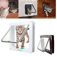 Cat Dog 4 Way Lockable Flap Door Magnetic Gate Flap Door Pet Lock Puppy DogS/M/L